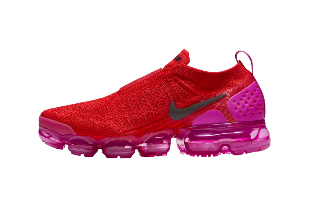 099f0917306 Nike Air VaporMax Moc 2 Fuchsia Blast University Red Sneaker