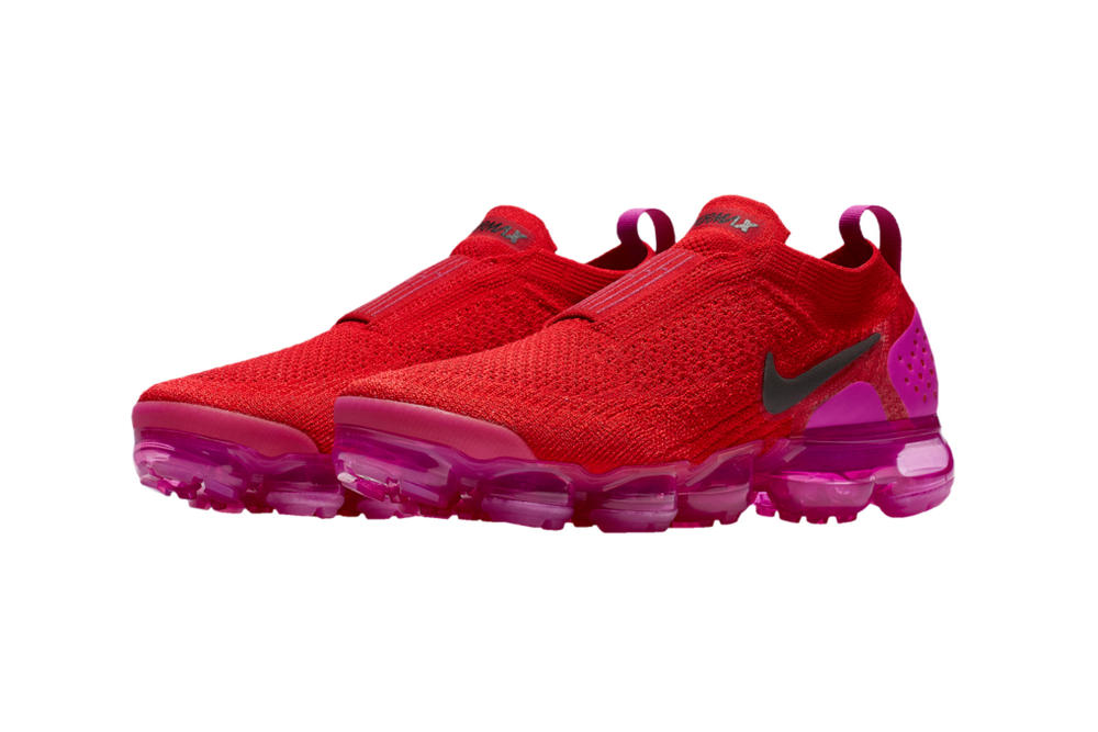 d2fc267253c45 Lady Foot Locker. Nike Air VaporMax Moc 2 Fuchsia Blast University Red  Sneaker