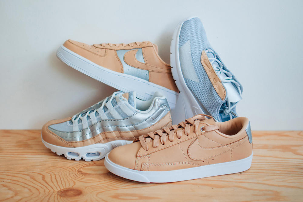 "Closer Look Nike ""Beautiful"" Pack Air Max 95 Nike Rivah Blazer Low Air Force 1 Sneaker Silhouette Shoe Footwear"