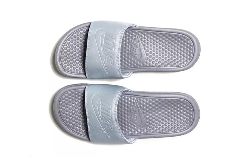 Nike Benassi Slide Grey Metallic