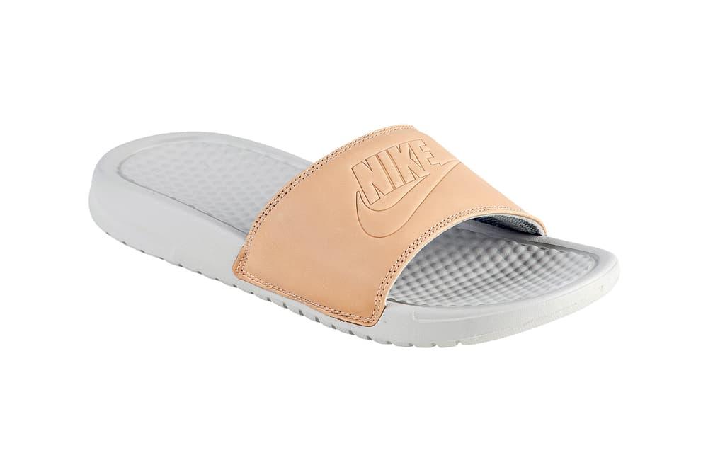 6e20cf6a2ac1 Nike Releases Benassi JDI Slides in Vachetta Tan
