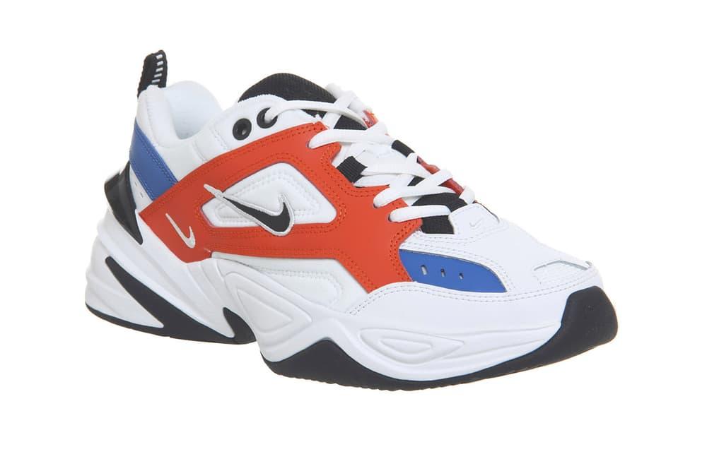 John Elliot x Nike M2K Tekno Blue Orange White Chunky Dad Sneaker
