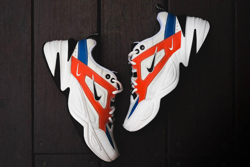 John Elliott Nike M2K Tekno Orange Blue