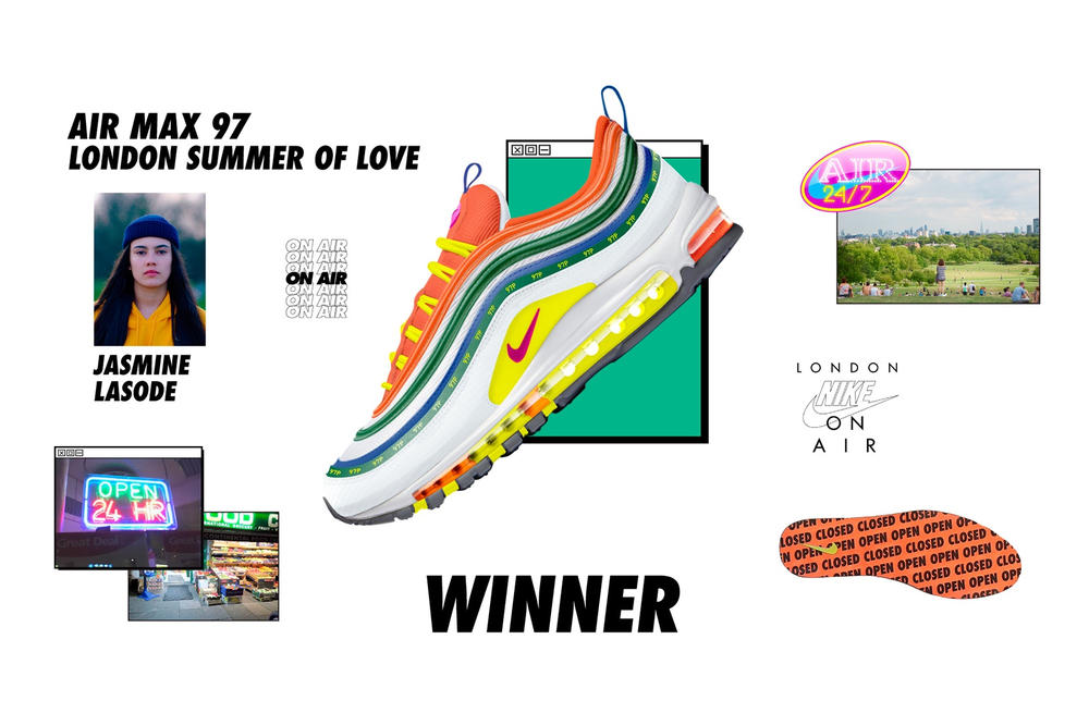 Nike Air Max 97 London Summer of Love by Jasmine Lasode