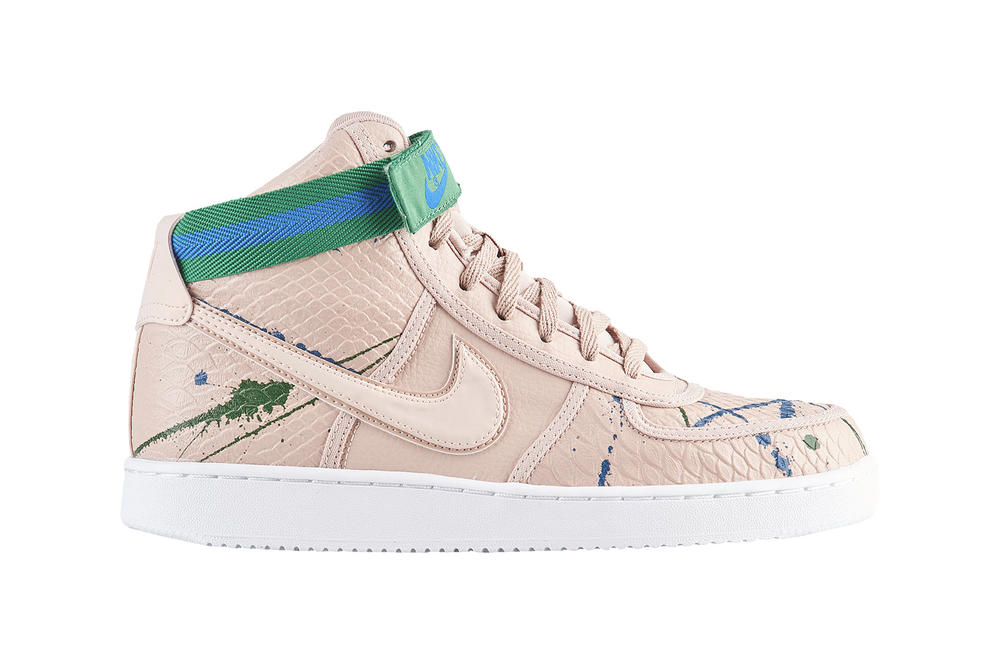 Nike Vandal Hi Particle Beige Paint Splatter Blue Green Sneakers