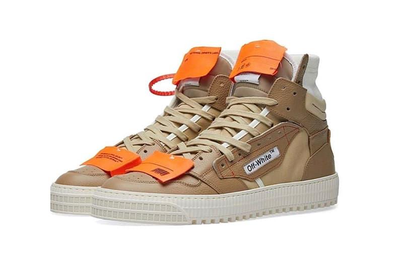 off-white virgil abloh 3.0 off-court sneakers beige camel tan orange red zip tag