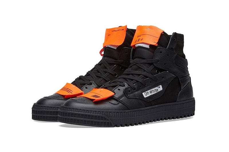 93718697a3d9d off-white virgil abloh 3.0 off-court sneakers triple black orange red zip  tag