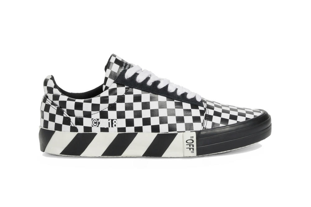 Off-White Fall Winter 2018 Vulc Low-Top Sneakers Check Print