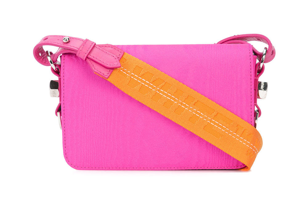 Off-White™ Fuchsia and Orange Industrial Strap Mini Shoulder Bag