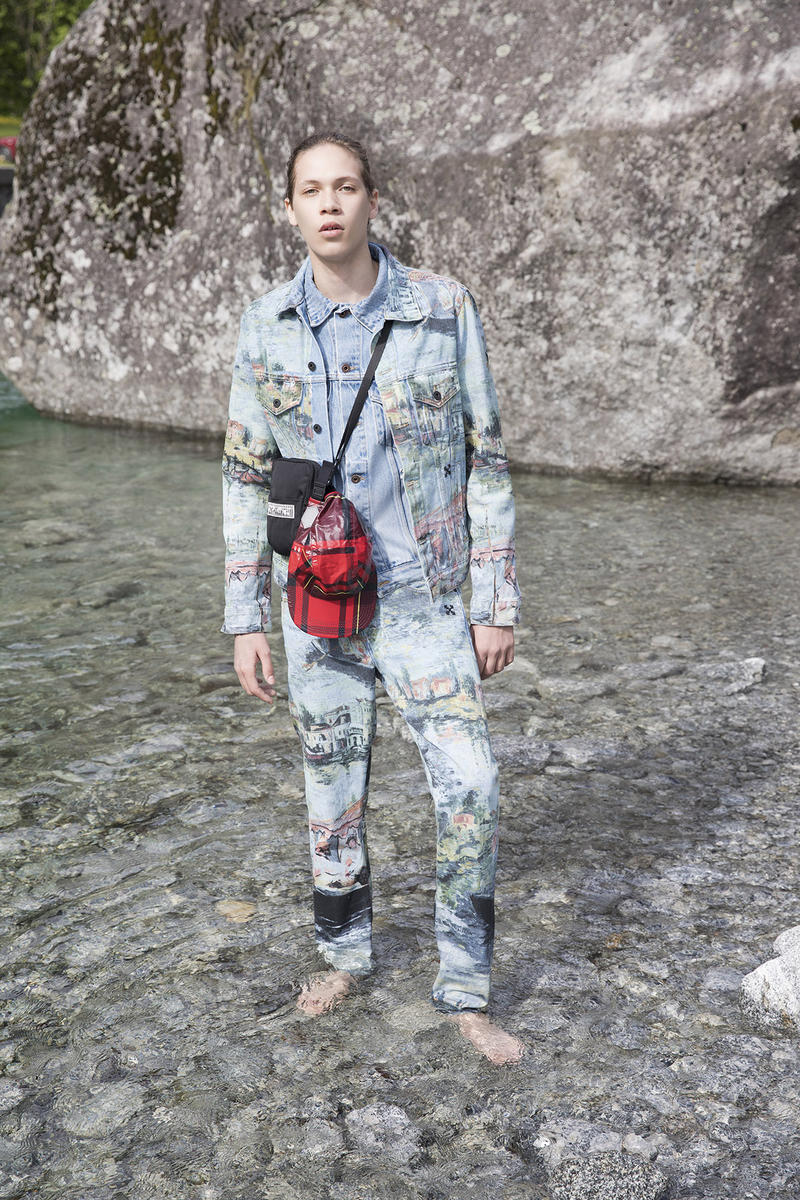 Off-White Men's Resort 2019 Impressionism Collection Jacket Pants Bag Blue Green Brown Red