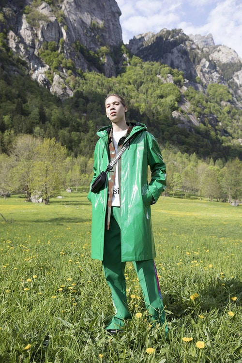 Off-White Men's Resort 2019 Impressionism Collection Jacket Pants Green