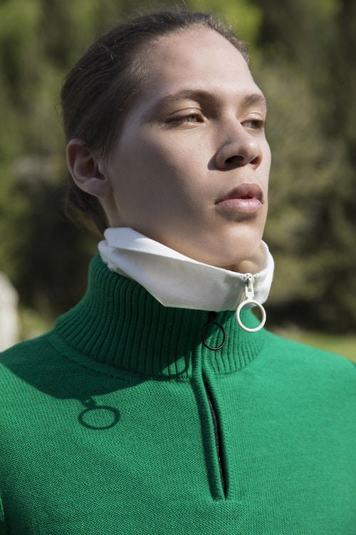 Off-White Men's Resort 2019 Impressionism Collection Sweater Green