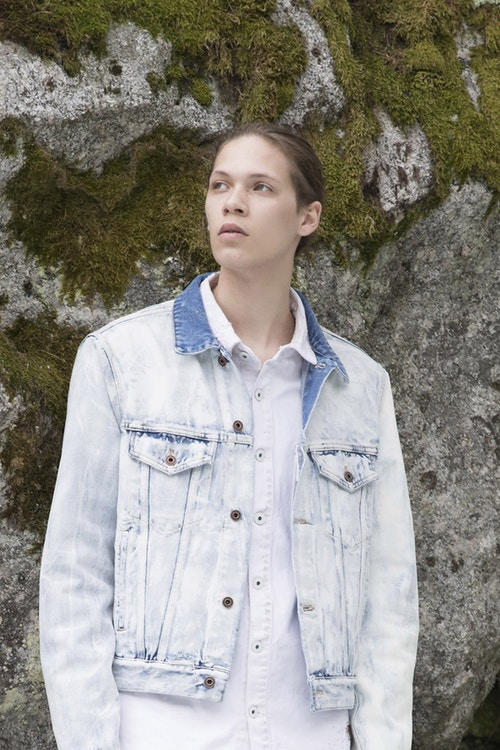 Off-White Men's Resort 2019 Impressionism Collection Denim Jacket Blue