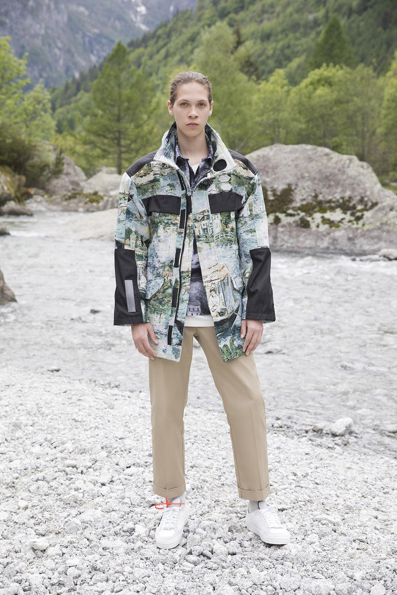 Off-White Men's Resort 2019 Impressionism Collection Jacket Pants Blue Green Khaki