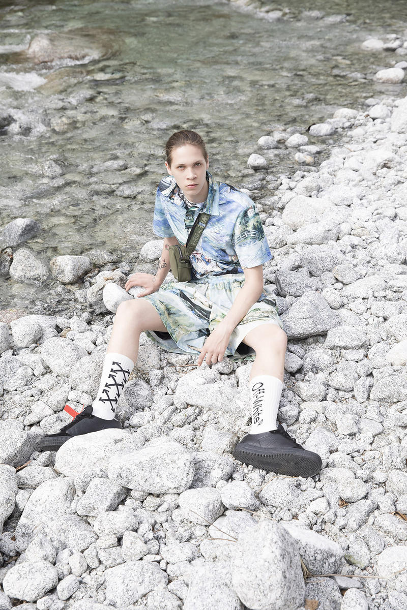 Off-White Men's Resort 2019 Impressionism Collection Jacket Pants Blue Green Brown Khaki
