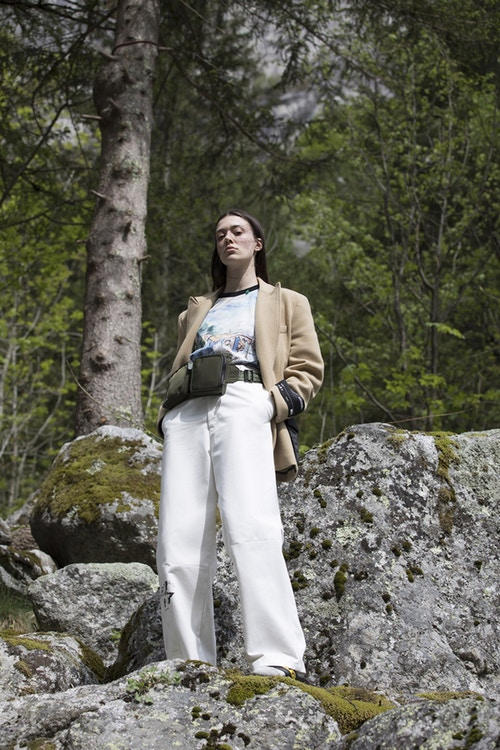 Off-White Men's Resort 2019 Impressionism Collection Jacket Pants Belt Bag Khaki White Green