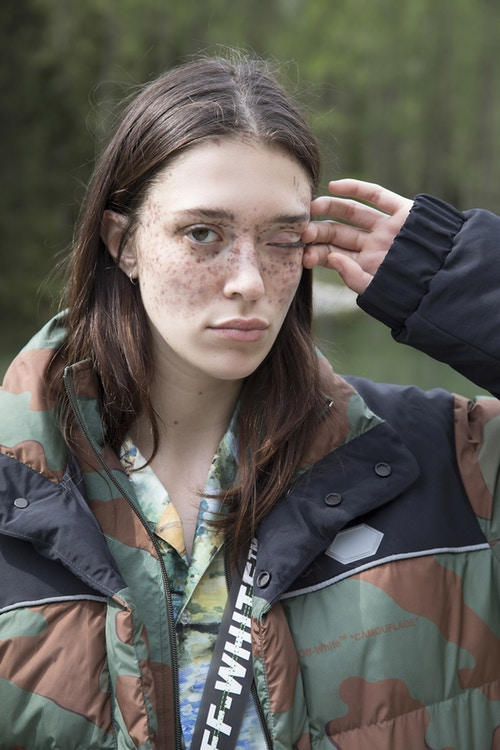 Off-White Men's Resort 2019 Impressionism Collection Jacket Camouflage