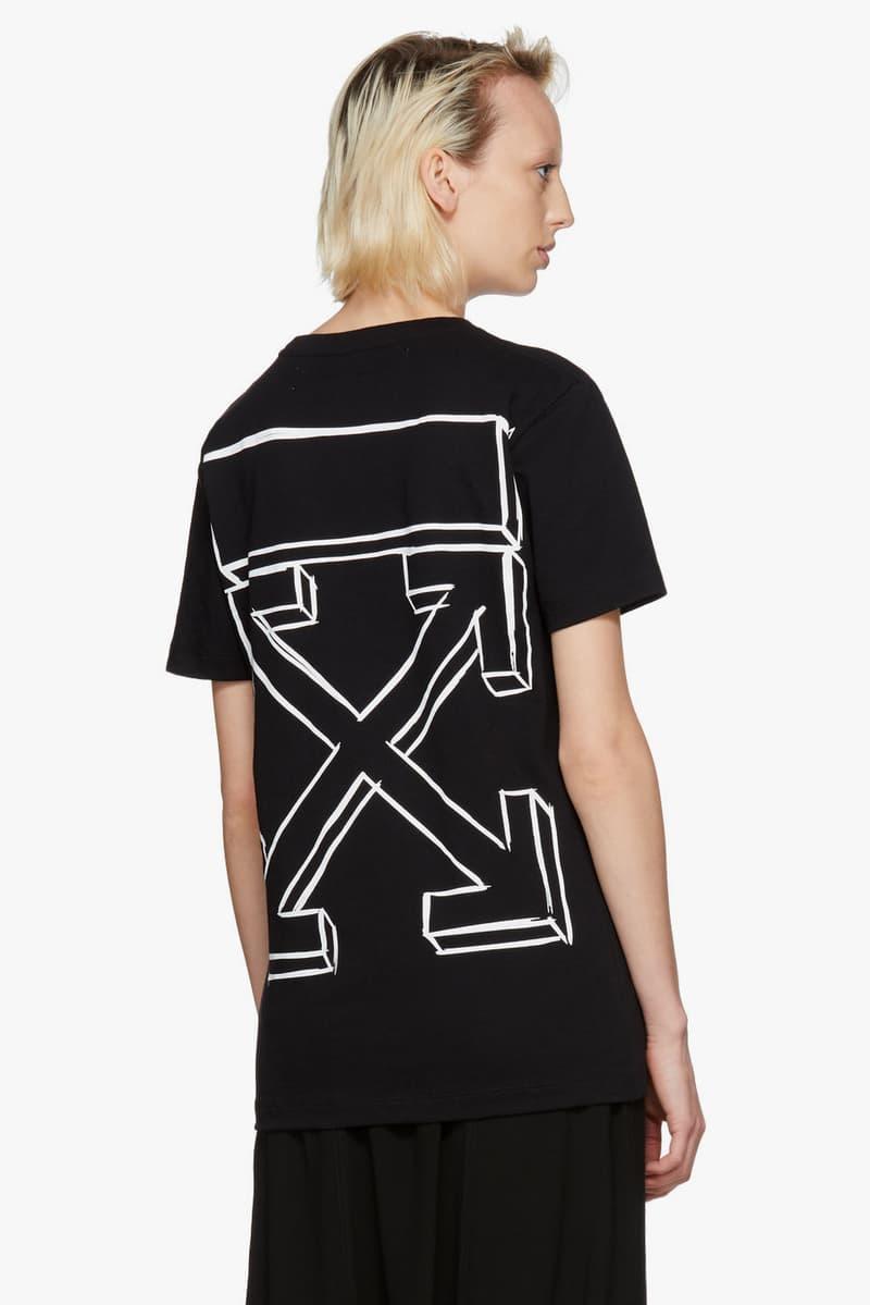 Shop New Off-White Spring Arrivals SSENSE Streetwear Staples Fashion Hoodie Sweatshirt Backpack Keychain