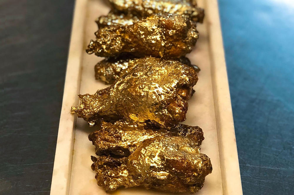 Order 24 Karat Gold Chicken Wings at 1,000 USD Jonathan Cheban Foodgod Kim Kardashian The Ainsworth New York