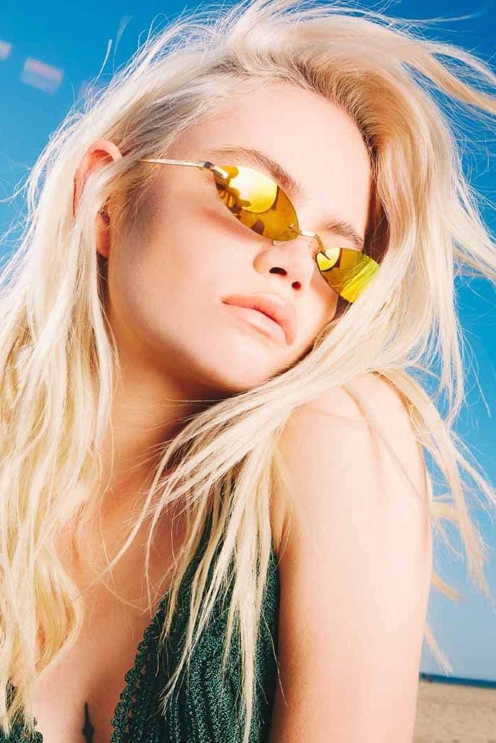 Poppy Lissiman Morpheus Sunglasses Gold Mirror