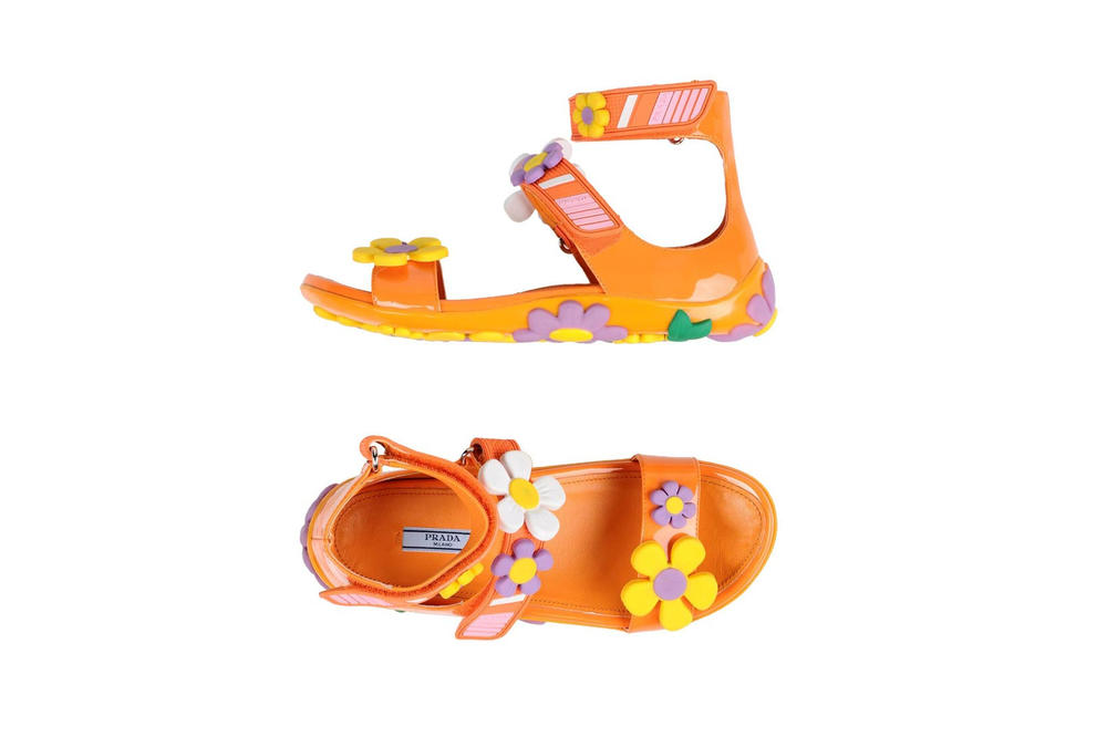 Prada Flower Sandals Orange
