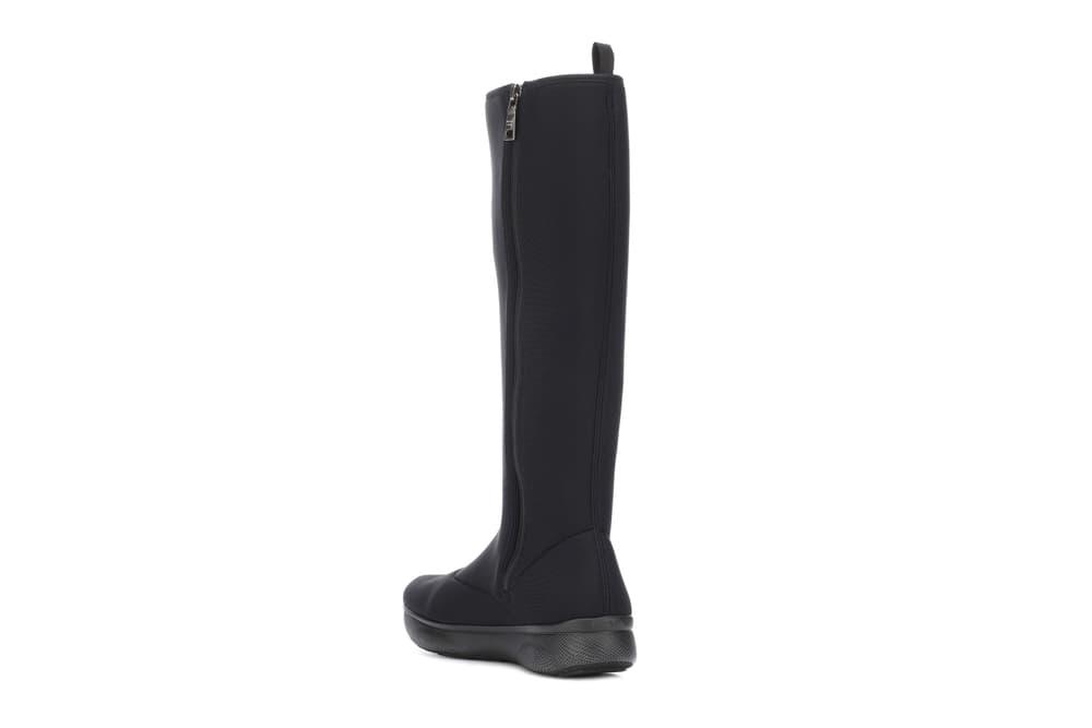Prada Neoprene Scuba Over-the-Knee Boots Black High Top Sock Sneaker