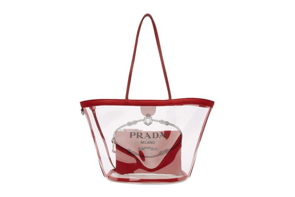 54140fae334d Where to Buy the Prada PVC Transparent Tote Bag | HYPEBAE