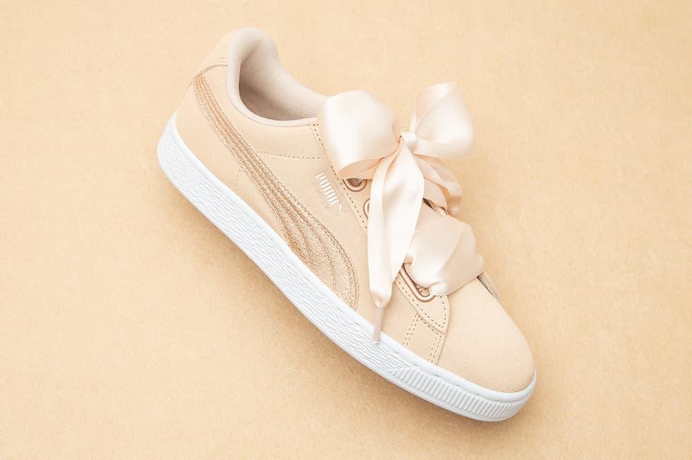 PUMA Suede Heart Luna Lux Cream Tan Smoked Pearl Sneakers