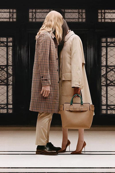 riccardo tisci burberry spring summer 2019 pre collection teaser jacket belt bag tan camel