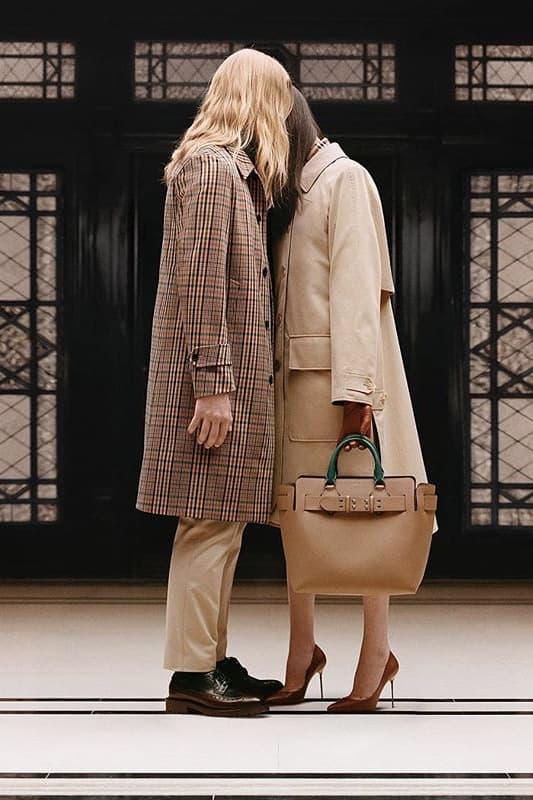 riccardo tisci burberry spring summer 2019 pre collection teaser jacket belt bag tan camel