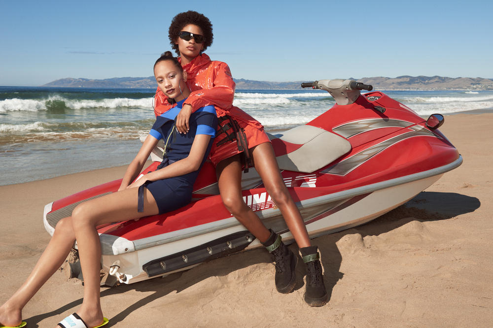 Fenty PUMA by Rihanna Spring/Summer 2018 Wetsuit Jacket Slides Black Blue Red