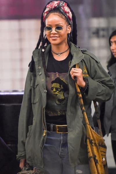 Rihanna Ocean's 8 Nine Ball Outfit Movie Sunglasses Headscarf Necklace Jacket