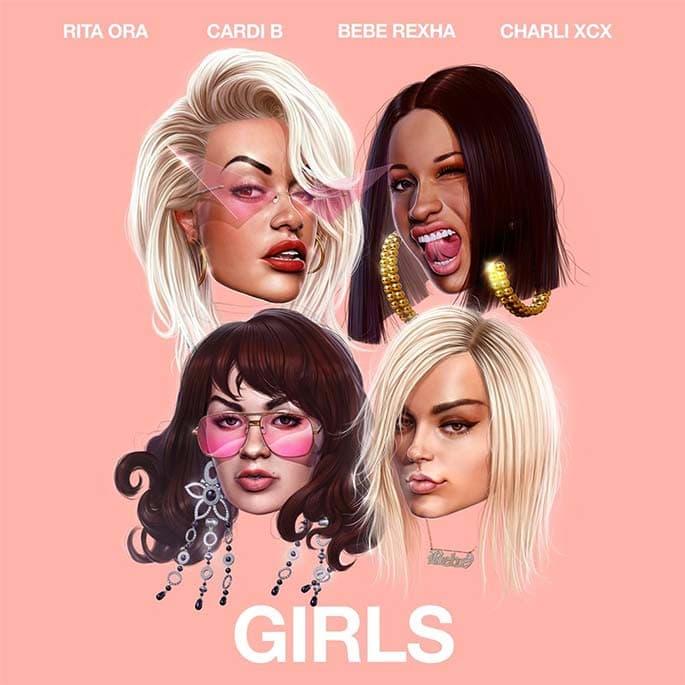 rita ora cardi b charli xcx bebe rexha girls new song single