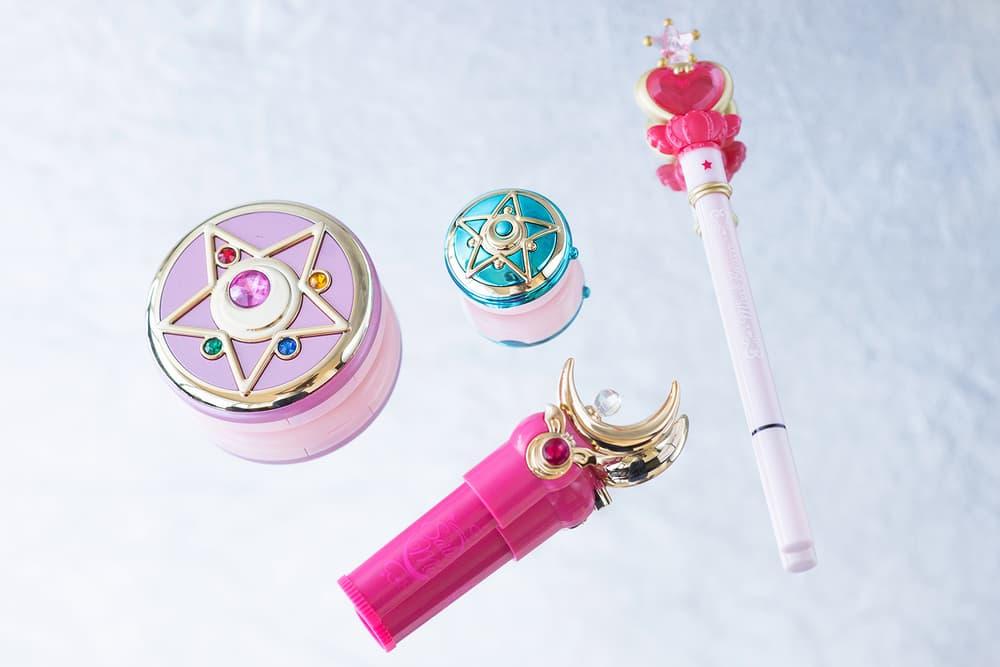 Sailor Moon Creer Beaute Makeup Beauty Face Compact Palette Lipstick Lip Balm Liquid Eyeliner