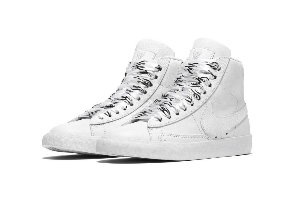 Serena Williams Nike Blazer Mid White Black