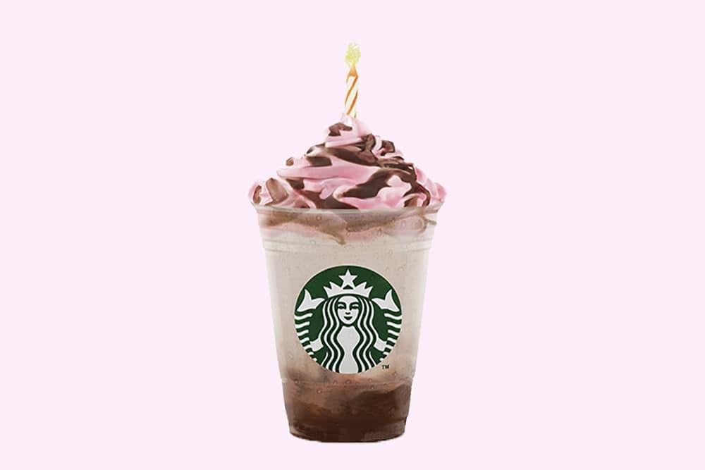 Starbucks Indonesia Pink Birthday Cream Frappuccino
