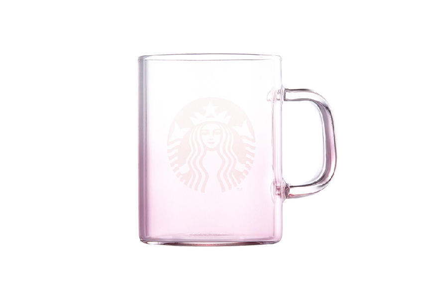 Starbucks Korea Pink Ombre Siren Logo Glass