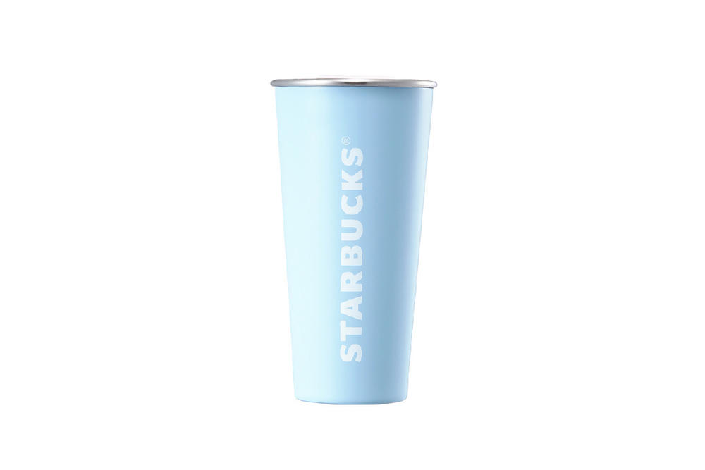 Starbucks Korea Blue Steel Logo Cold Cup