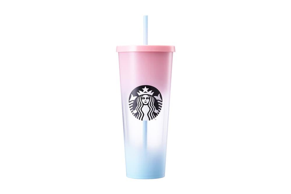Starbucks Korea Pink Blue Ombre Straw Tumbler