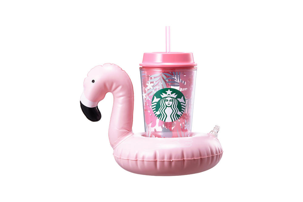 Starbucks Korea Pink Inflatable Flamingo Cup Summer 2018