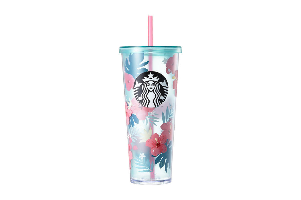 Starbucks Korea Pink and Blue Hibiscus Cup Summer 2018