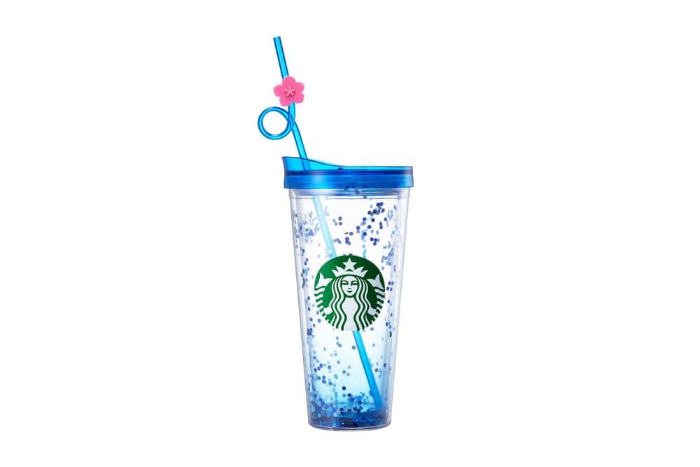 Starbucks Korea Blue Glitter Hibiscus Cup Summer 2018