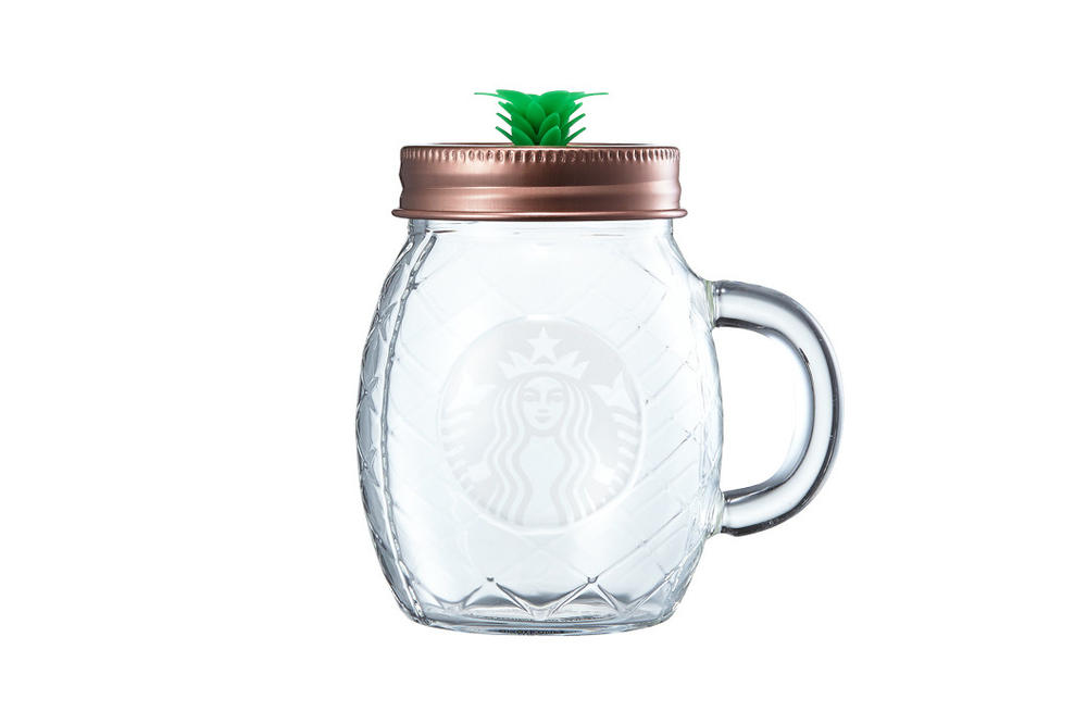 Starbucks Korea Pineapple Glass Cup with Lid Summer 2018