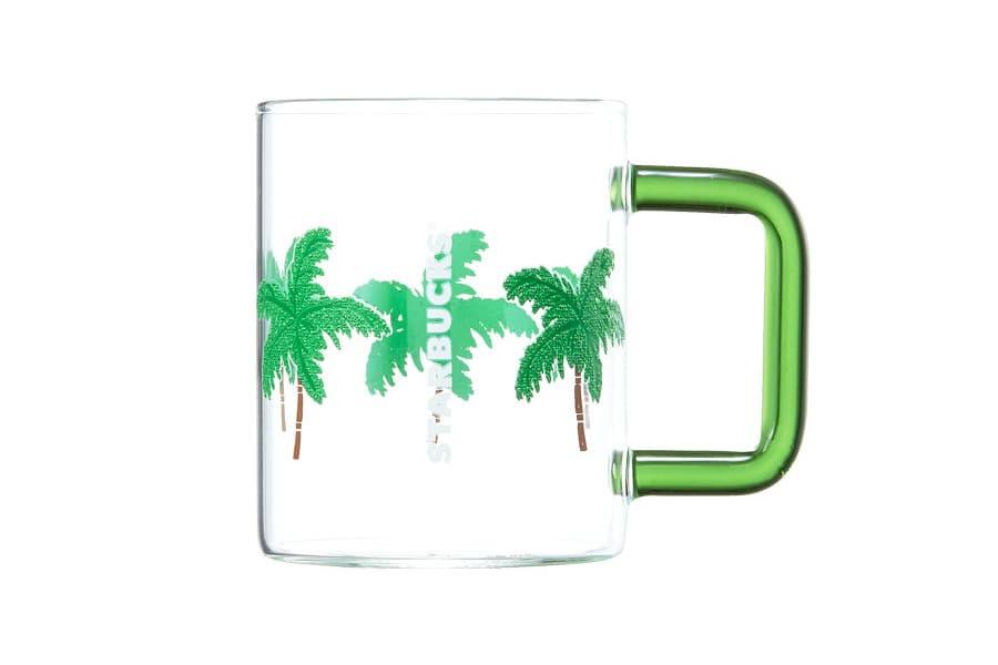 Starbucks Korea Green Palm Tree Glass Cup Summer 2018