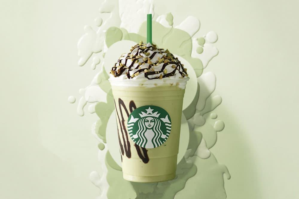 Starbucks Singapore Pistachio Bon Bon Cream Pastel Mint Green Frappuccino