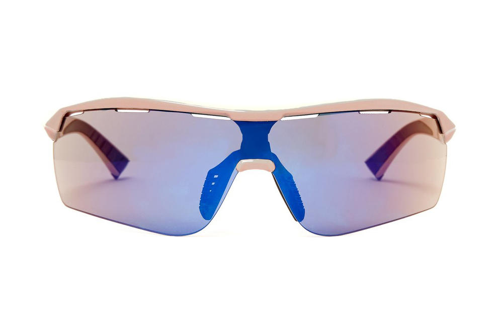 Stella McCartney Blue and Pale Pink Turbo Wrap Eco-Friendly Sunglasses