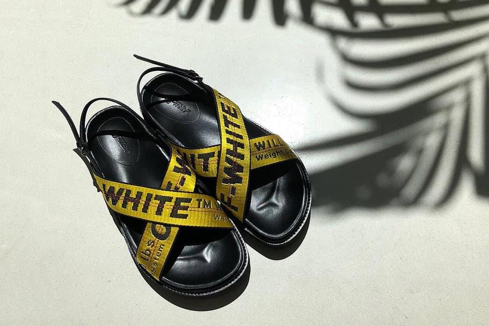 The Five Best Streetwear Sandals for Summer Off-White Suicoke Dr Martens Rick Owens Alexander Wang