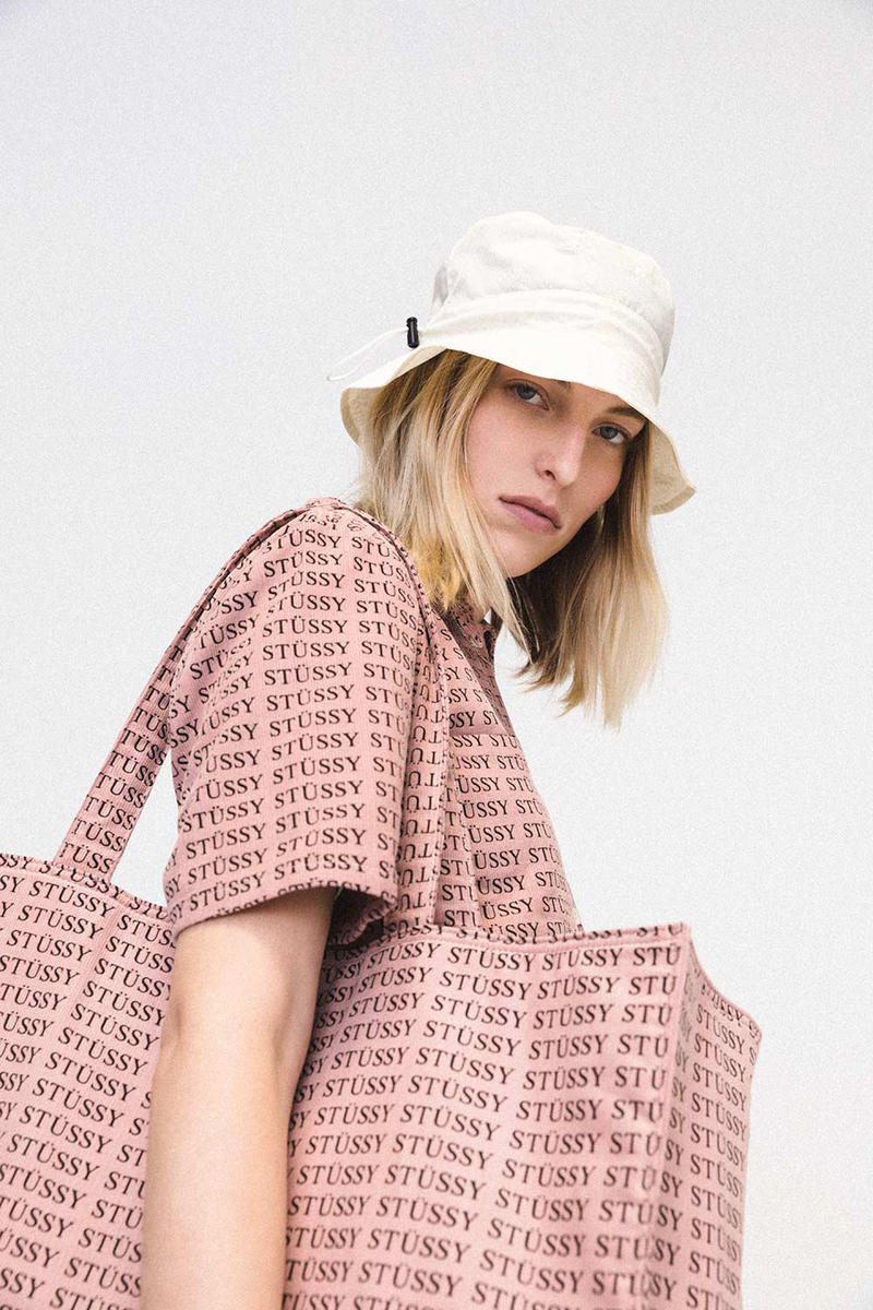 Stussy Women Summer 2018 Lookbook Pink Logo Shirt Bag Bucket Hat e9e3fd513