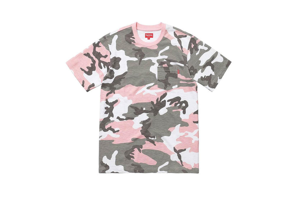 Supreme Pink Camo T-Shirt Pocket Tee