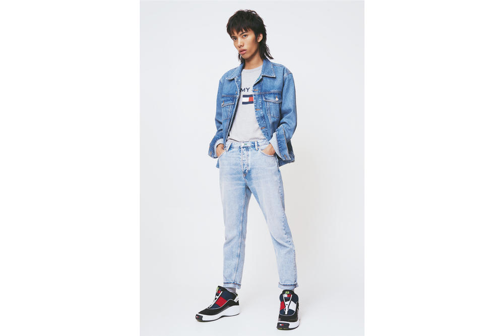 Tommy Jeans Spring 2018 Capsule Collection Campaign Logo Jean Jacket Blue '90s Fly Sneaker Blue